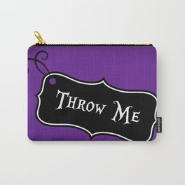 """""""Throw Me"""" Alice in Wonderland styled Bottle Tag Design in 'Shy Violets' Carry-All Pouch"""
