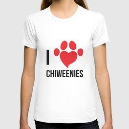 I Love Chiweenie Logo T-Shirt T-shirt