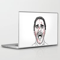 american psycho Laptop & iPad Skins featuring American Psycho. by Saul Art
