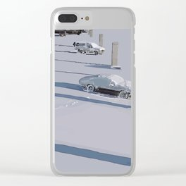 Lonely Shadows Clear iPhone Case