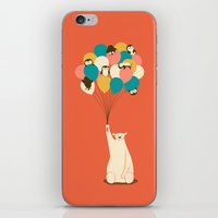 penguin iPhone & iPod Skins featuring Penguin Bouquet by Jay Fleck