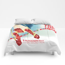 Glory to Yugoslavian design Comforters