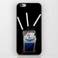 cigarettes iPhone & iPod Skins featuring Cigarettes by Courtney Decker