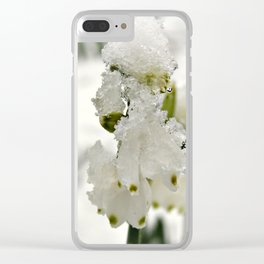 Snow on Snowdrops Clear iPhone Case