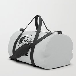 I'd Rather Be Reading Black and White Duffle Bag