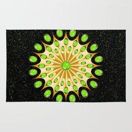 Mandala Gold and Emeralds Rug
