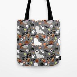 Dachshund dog breed halloween cute pattern doxie dachsie dog costumes Tote Bag