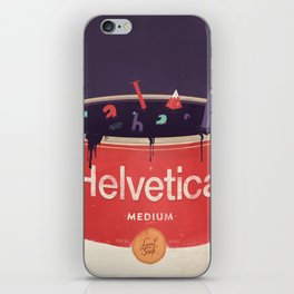 Helveti-soup iPhone Skin