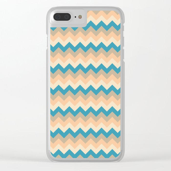 Colorful Chevron Pattern IV Clear iPhone Case