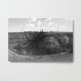 Horseshoe Canyon 1 Drumheller Badlands Metal Print
