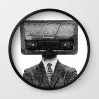 radiohead Wall Clocks featuring RadioHead by duba