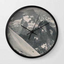 Swiss Mountain Panorama Litho Wall Clock