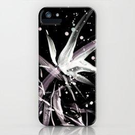 Lupinus #3 (black) iPhone Case