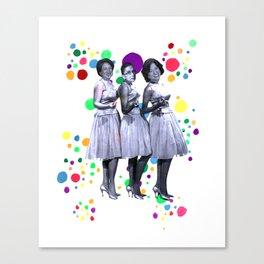 The Supremes: RBG, Sonia Sotomayor and Elena Kagan Canvas Print