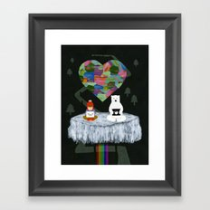 yes yes paw Framed Art Print