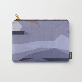 Fragmented Violet Carry-All Pouch