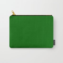 Forest Green Flat Color Carry-All Pouch