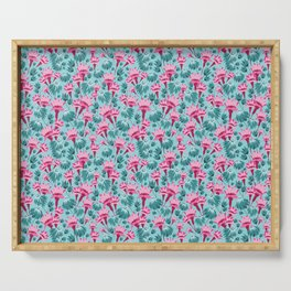 Pink & Teal Lovely Floral Serving Tray