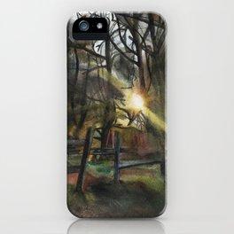 Autumnal Sunset iPhone Case