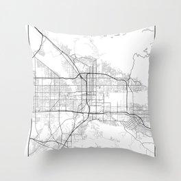 Minimal City Maps - Map Of San Bernardino, California, United States Throw Pillow