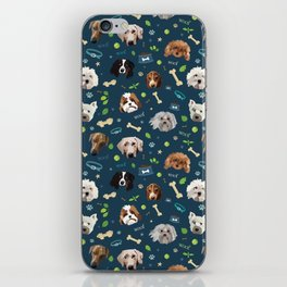 puppy party repeating pattern iPhone Skin
