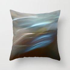 Silver Fluidity I Throw Pillow