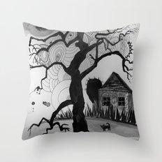 dark tale Throw Pillow