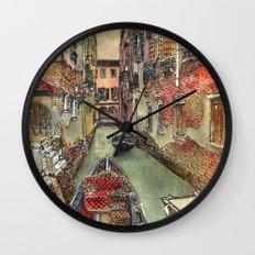 Autumn in Venice Wall Clock
