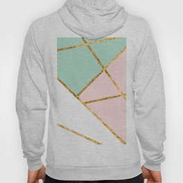 Blush, Mint, White Geo with Gold #1 #minimal #decor #art #society6 Hoody