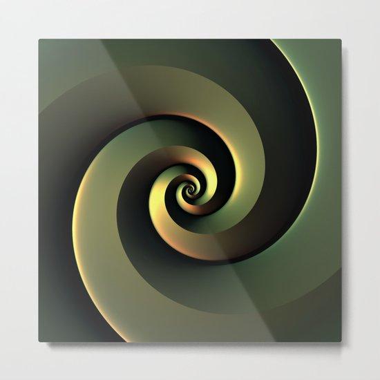 Dark Spiral Metal Print