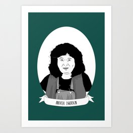 Andrea Dworkin Illustrated Portrait Art Print