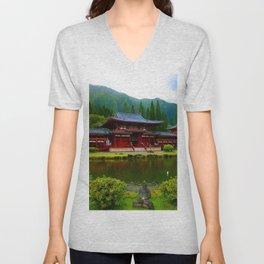 Temple Valley Buddah ... By LadyShalene Unisex V-Neck