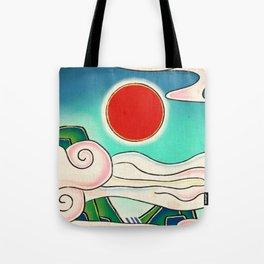 Minhwa: Sunrise (Korean Traditional Art) Tote Bag