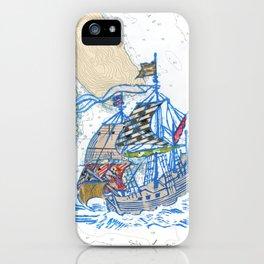 Sailing Ship X iPhone Case