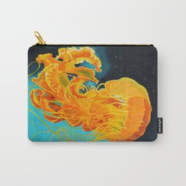 Orange Jellyfish Carry-All Pouch