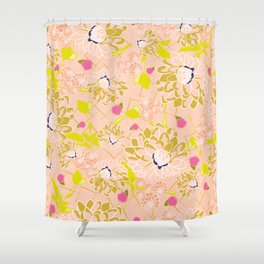 Energizing spring summer flowers Shower Curtain
