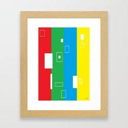 Simple Color Framed Art Print
