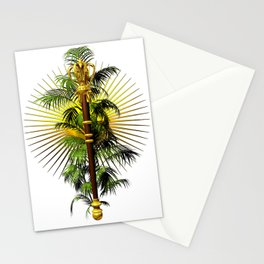 growing power, royal scepter with palm tree in front of aureole Stationery Cards