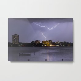 Bde Maka Ska Lightning Storm Metal Print