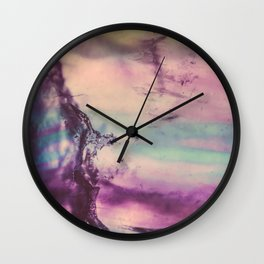 Purple Fluorite from our Earth Wall Clock