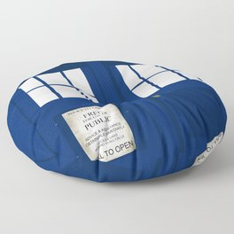 Police Phone Box Tardis Floor Pillow