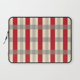 Red Striped Plaid Laptop Sleeve