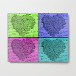 420 Hearts Quad 3a Metal Print