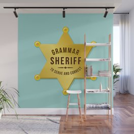 Grammar Sheriff Wall Mural