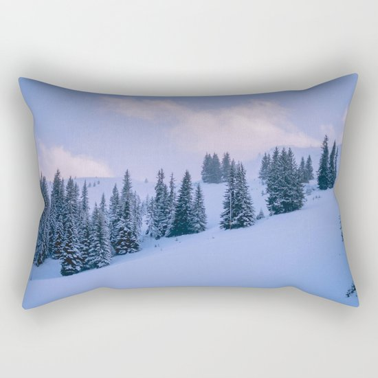 The Winter Woods Rectangular Pillow