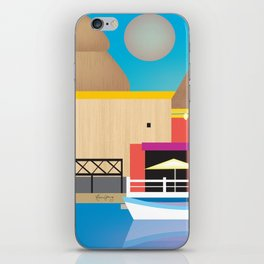 Cozumel, Mexico - Skyline Illustration by Loose Petals iPhone Skin