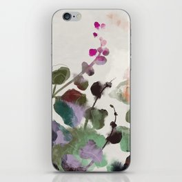 floral abstract summer autumn iPhone Skin