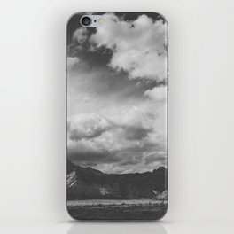 Red Rock Canyon, Las Vegas, Nevada. Mountain Black and White Photograph iPhone Skin