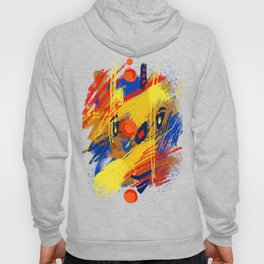 Smiley clown abstract portrait Hoody