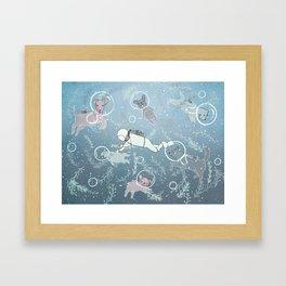 Scuba Dogs Framed Art Print